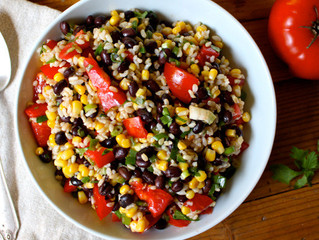 Southwestern Rice and Bean Salad (under 200 calories)