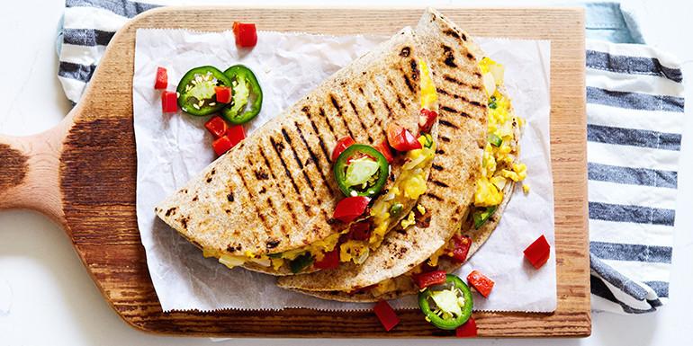 Breakfast Quesadilla - 21 Day Fix approved recipe