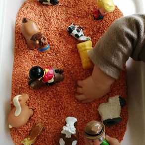Lentil/pasta play