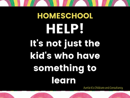 Homeschool -Help! It's not just the kids who have something to learn