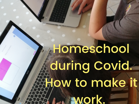 Homeschool during Covid. How to make it work.