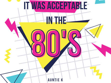 It was acceptable in the 80's