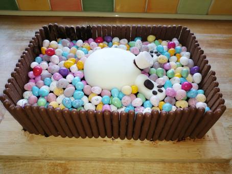 Easter Bunny Bum Cake