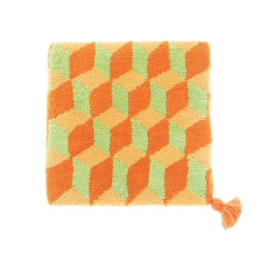 ゼリージュウタン・ボタニカル40 zabouton〈キュービック/山吹色×ピスタチオ×オレンジ〉