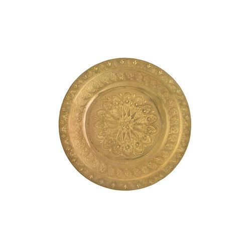 〔səmsəm SÉLECTION〕モハメッド・ハリールの真鍮トレイ(20cm) 001