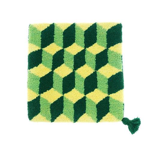 ゼリージュウタン・ボタニカル68 zabouton〈キュービック/レモンイエロー×ピスタチオ×緑〉