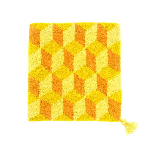 ゼリージュウタン・ボタニカル68 zabouton〈キュービック/マスタードイエロー×オレンジ×レモンイエロー〉