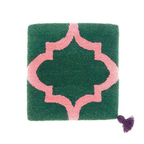 ゼリージュウタン・ボタニカル68 zabouton〈キャトルフイユ/緑×ピンク〉