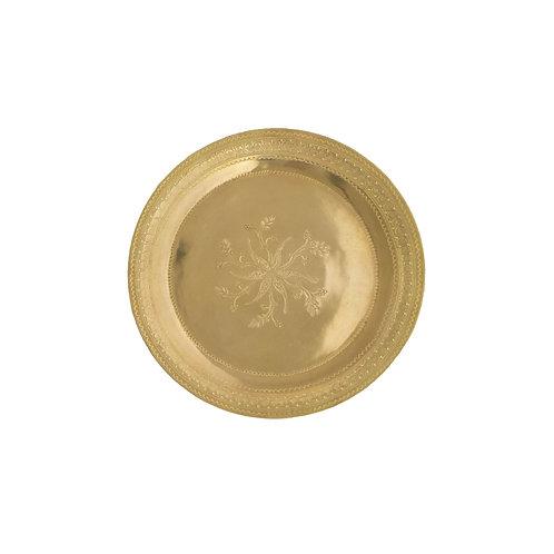 〔səmsəm SÉLECTION〕モハメッド・ハリールの真鍮トレイ(20cm) 002