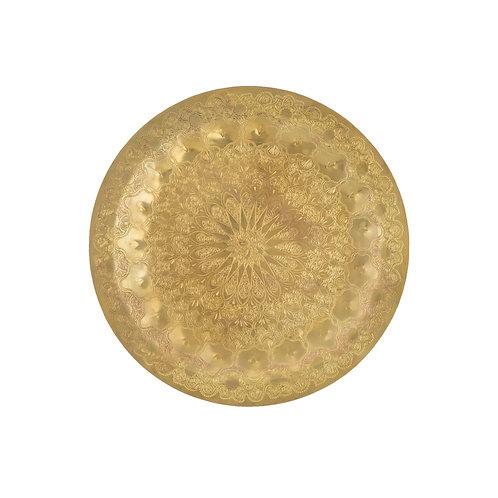 〔səmsəm SÉLECTION〕モハメッド・ハリールの真鍮トレイ(25cm) 003