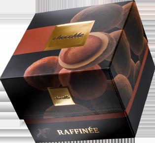 Karamellisierte Macadamianuss mit Tonkabohnen verfeinerter blonder Schokolade in