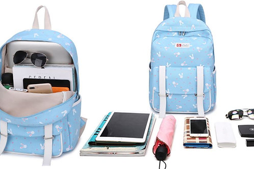 3-Piece Bunny Set: Backpack, Crossbody, and Wristlet