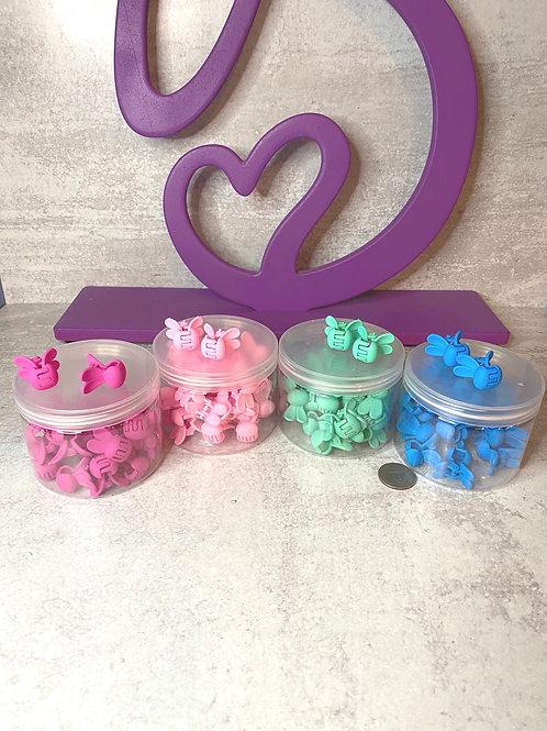 Petite bunny hair clips (per pair)