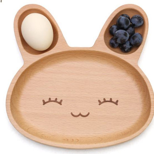 Baby's Wooden Serving Set