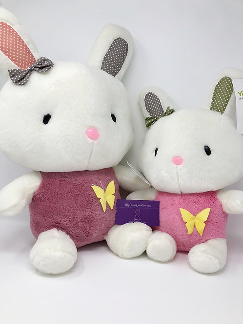 Bunny Plushies with Butterflies