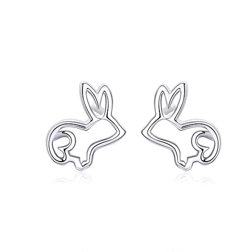 Platinum plated silver earrings