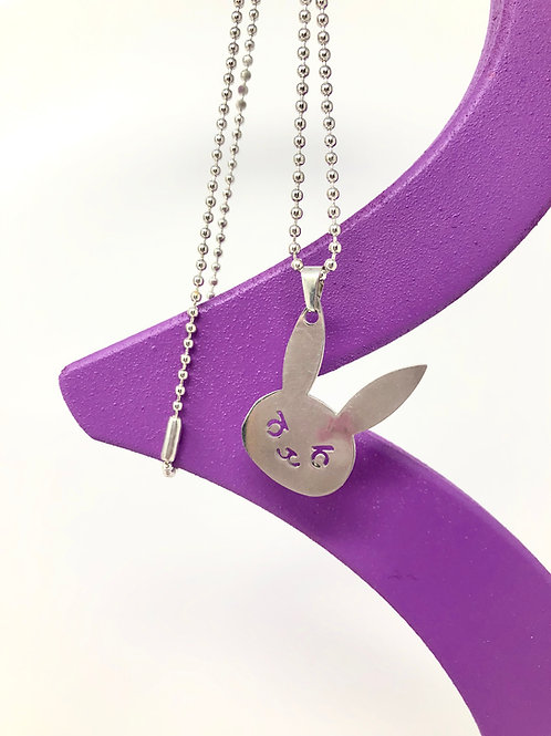 Stainless Steel Bunny Necklace