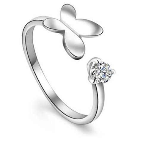 925 silver butterfly ring - adjustable