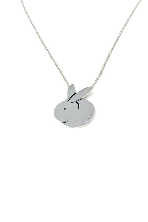 """Stainless Steel Bunny on a 20"""" chain"""