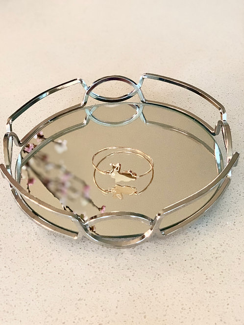 Sterling silver bunny bangle plated in rose gold