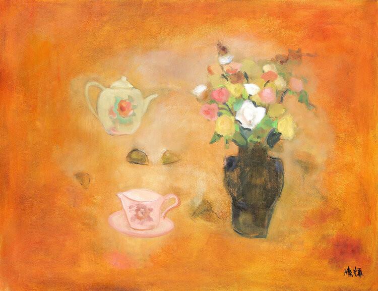 2010+玫瑰下午茶+130x89cm+壓克力彩+畫布.jpg