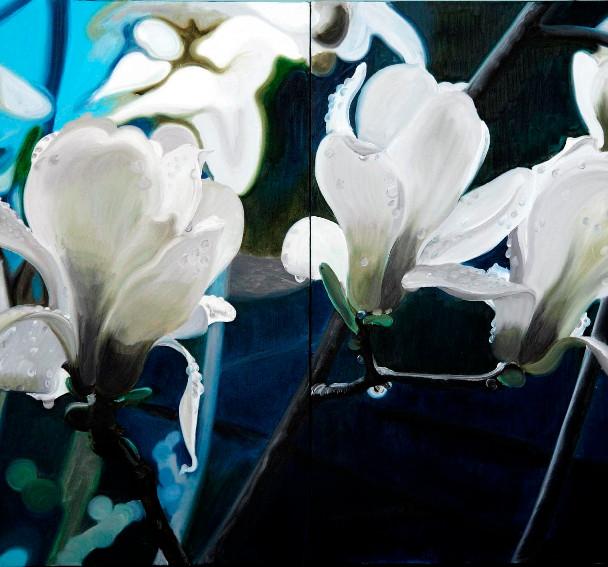 Magnolia · Lady, Diptych