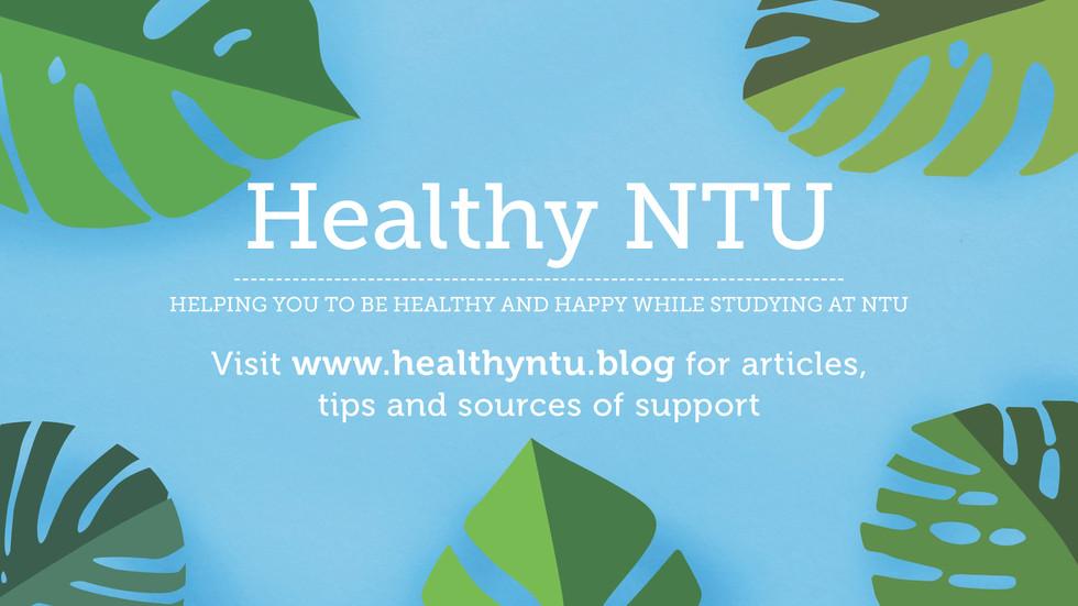 Healthy NTU banners