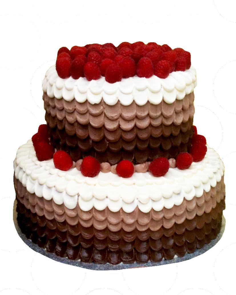 Fresh berries and cream
