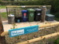 Welcome sign,Recyling and flushale CDP