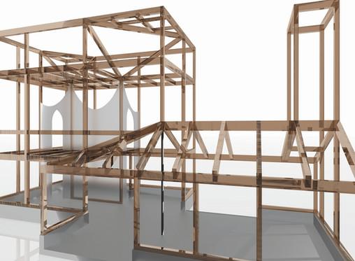 十条の住宅2 構造見学会を行います