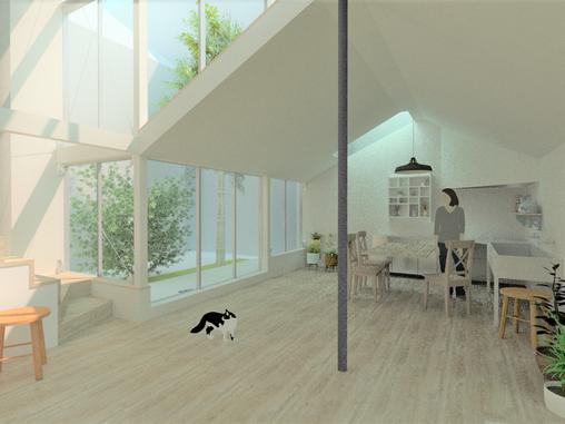 トンカチ敷地の住宅(十条の住宅2)