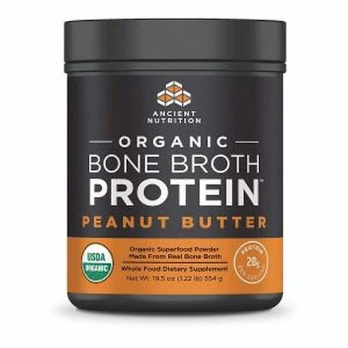 Ancient Nutrition Organic Bone Broth Protein Peanut Butter 21.2 oz.