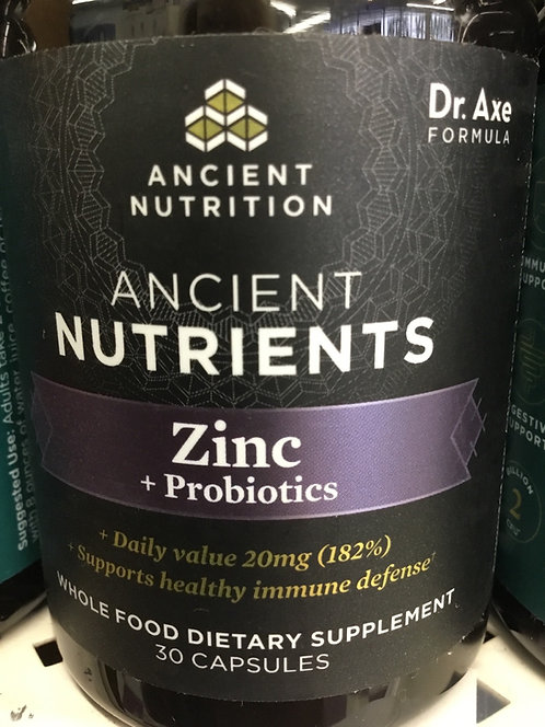 Ancient Nutrition Ancient Nutrients Zinc+Probiotics 30 caps