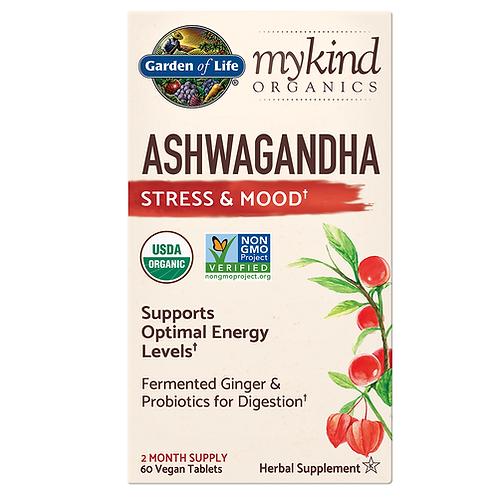 Garden of Life mykind Organics Ashwagandha 60 tabs.