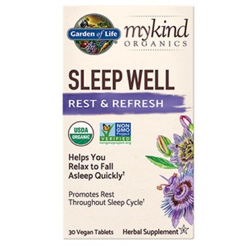 Garden of Life mykind Organics Sleep Well 30 Tablets