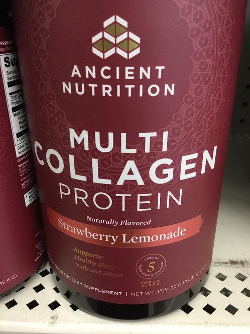 Ancient Nutrition Multi Collagen Protein  strawberry Lemonade 18.9oz
