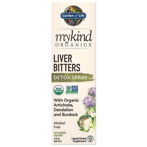 Garden of Life mykind Organics Liver Bitters Detox Spray 2 oz.