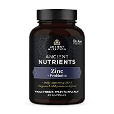 Ancient Nutrition Ancient Nutrients Zinc  30 caps