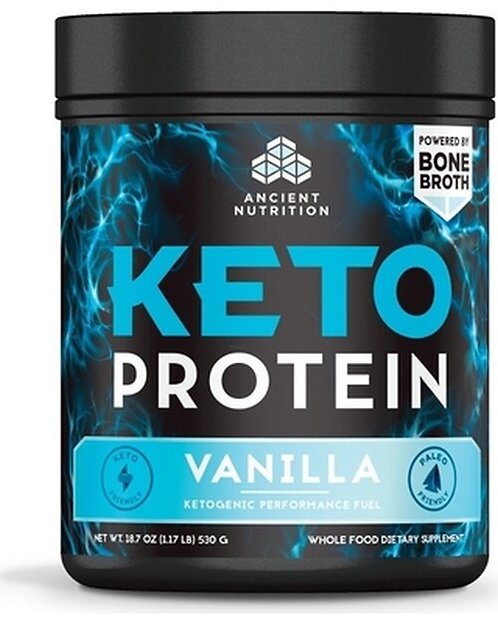 Ancient Nutrition Keto Protein Vanilla 18.7 oz.