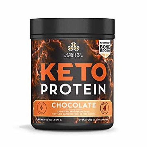 Ancient Nutrition Keto Protein Chocolate 19 oz.