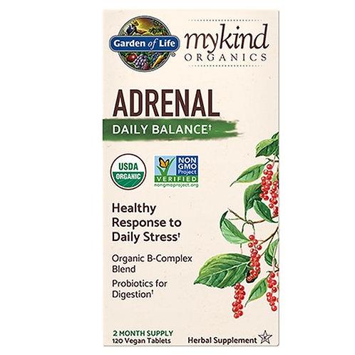 Garden of Life mykind Organics Adrenal Daily Balance 120 Tabs
