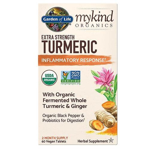 Garden of Life mykind Organics Extra Strength Turmeric Inflammatory Response 60