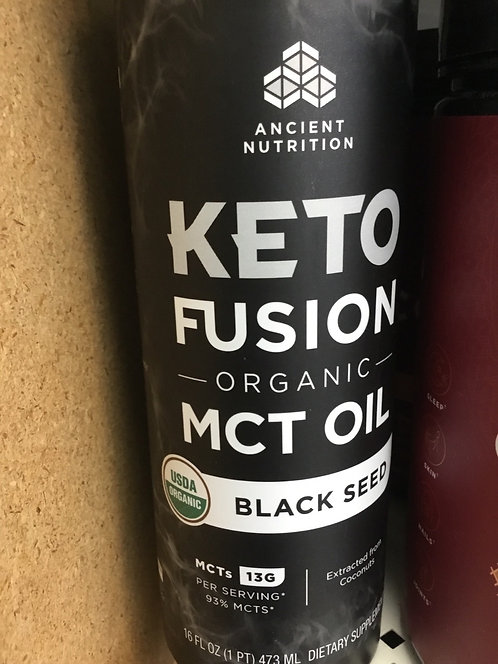 Ancient Nutrition Keto Fusion Organic MCT Oil Black Seed 16 FL.oz.