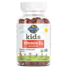 Garden of Life Kids Vitamin D3 Orange  60 gummies