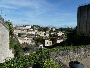 View as we wandered the streets of St. Emillion, rich with wine and history.