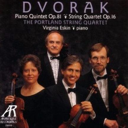 DVORAK, ANTONIN - String Quartet Op. 16 and Piano Quintet Op. 81