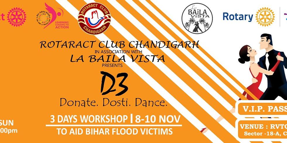 D3 - Dance Dosti Donate | VIP Pass | Rotaract Club of Chandigarh