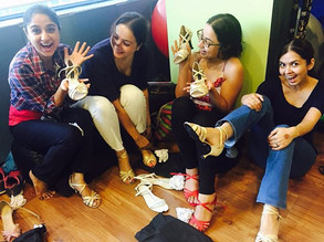 Happy Ladies of the team, means a happy team. Yesterday we all (8 of us) from our performance team, got our new shoes.jpg