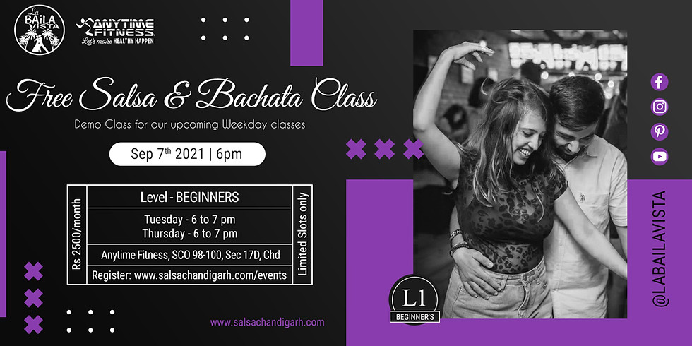 Free Demo Salsa Class | 7th Seb - 6pm | Weekday