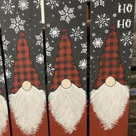 Atelier de Noel - Peinture sur bois - Déco extérieur